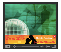 overlay banner with click-to-linear video advertisement