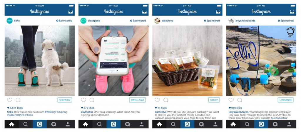 Instagram native mobile advertising