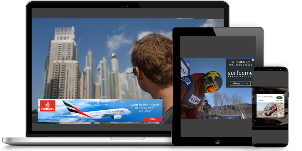 Coull's OverStream Suite of video advertising formats