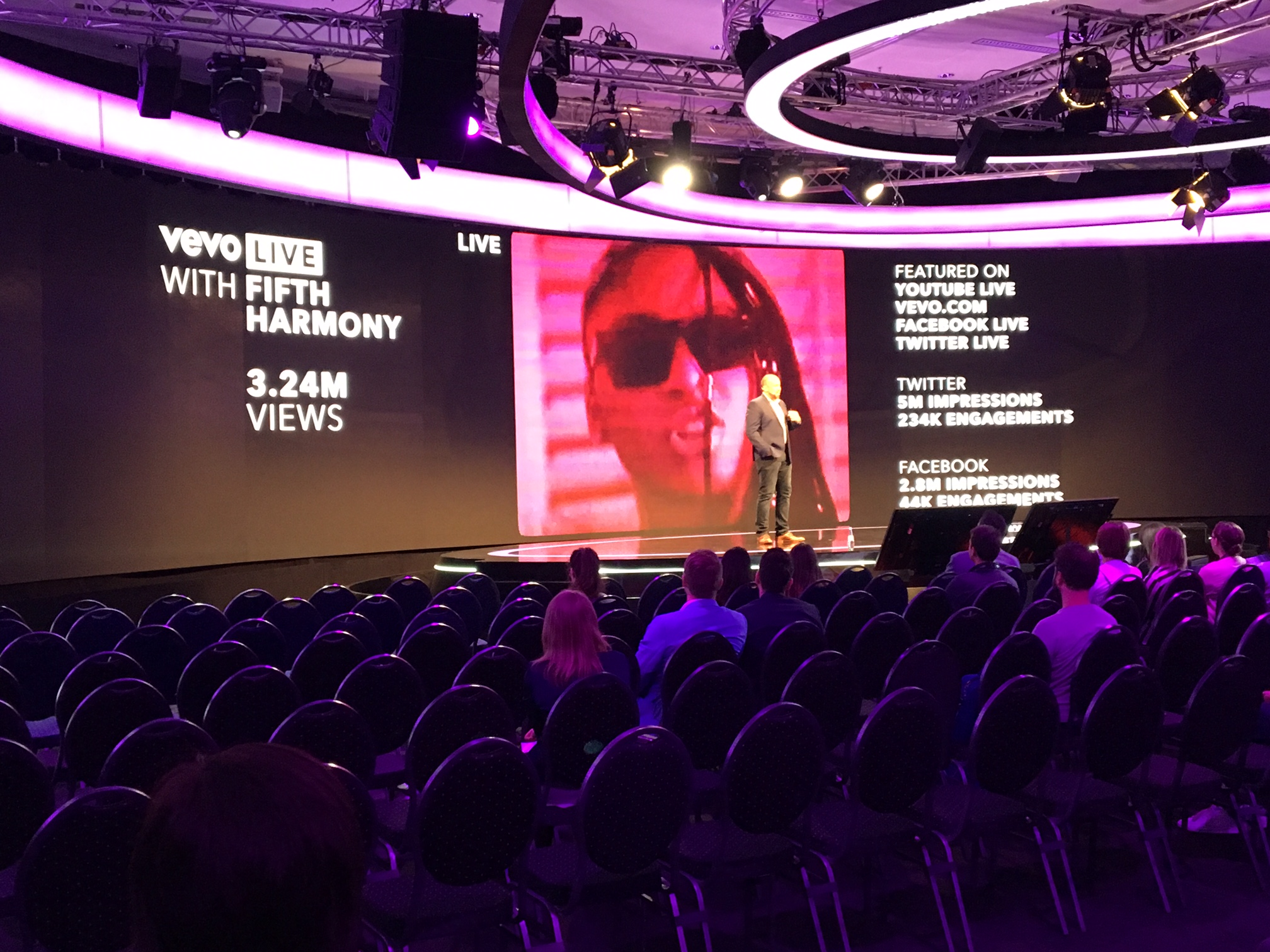 VEVO presenting the talk 'TV's tipping point: The Convergence of Digital & TV' - Dmexco 2017