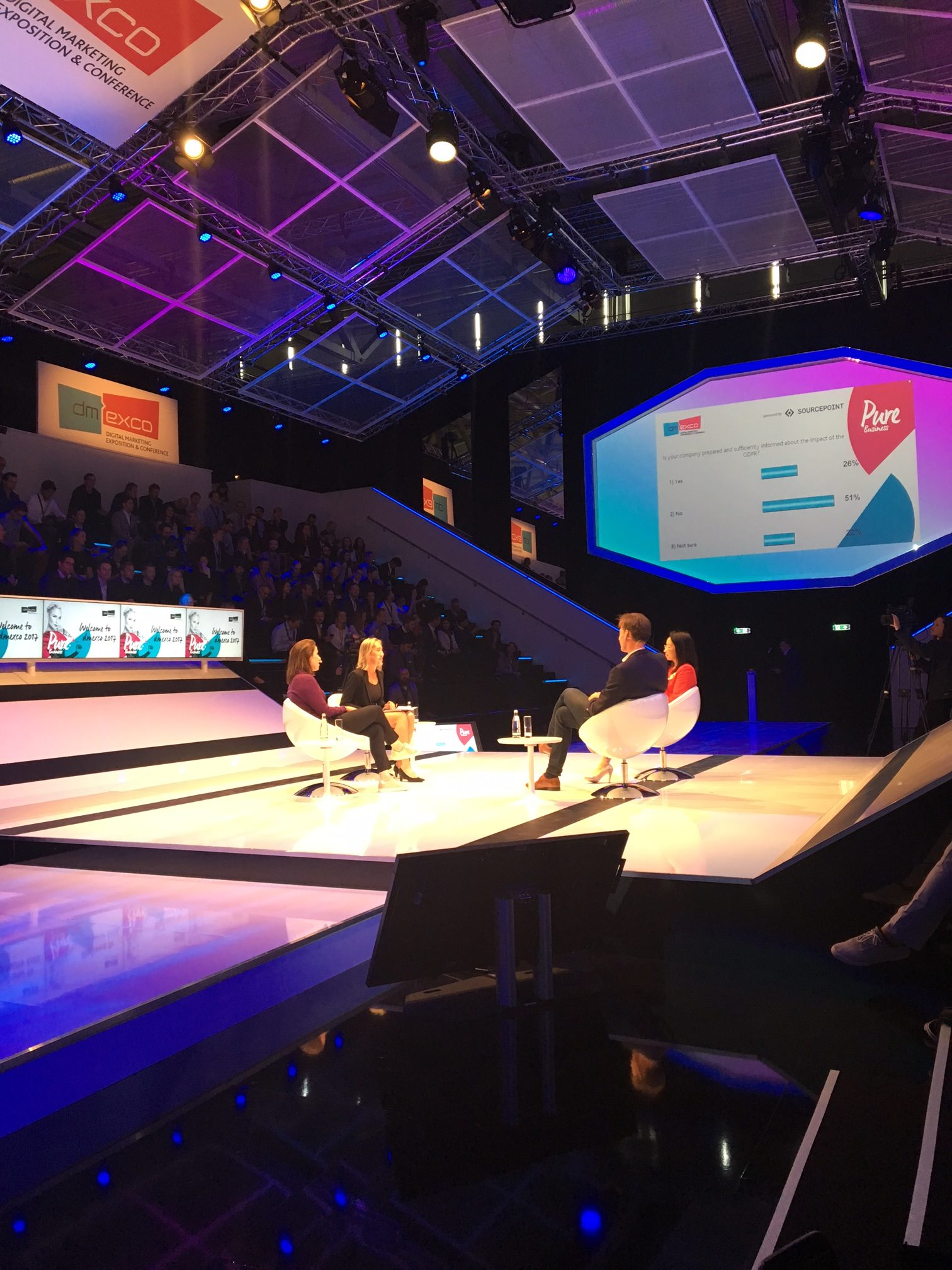 The 'Preparing for GDPR: Embracing the Inevitable Regulations' debate - Dmexco 2017