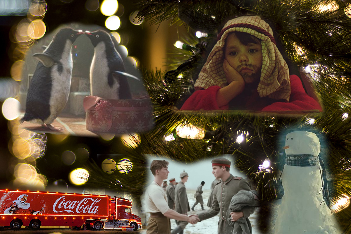 christmas advertising montage