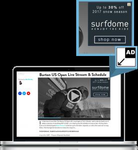 OverStream Minimising MPU - video advertising format