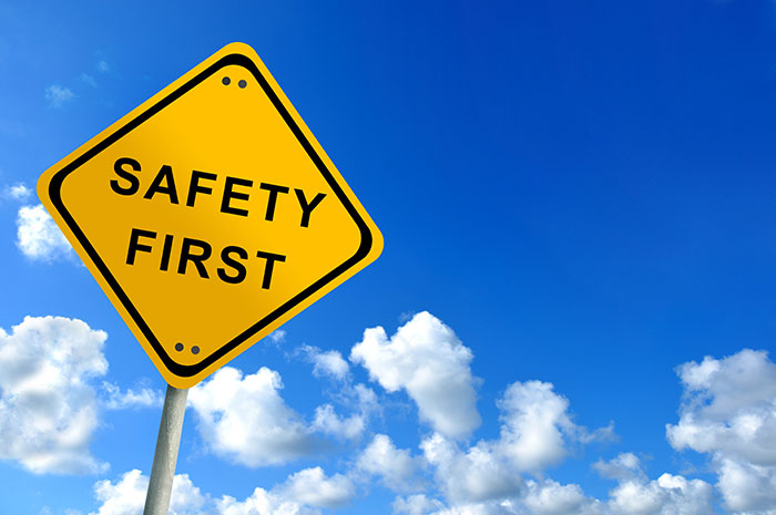 Safety first sign - brand safety