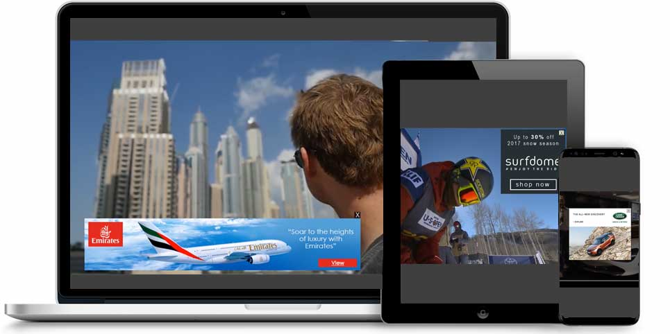 The OverStream Suite of video ad formats in devices