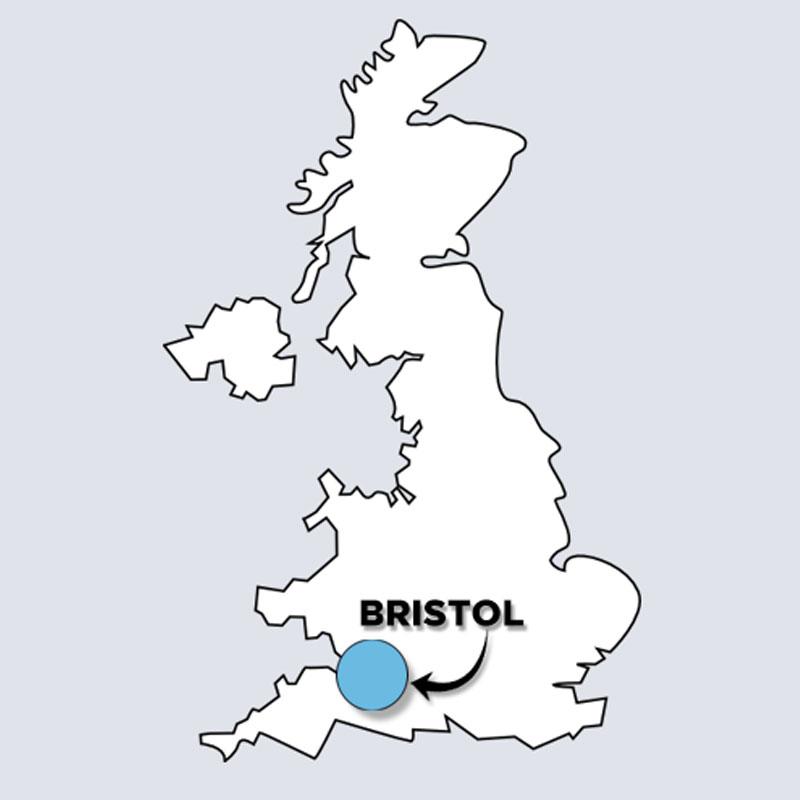 UK map Bristol